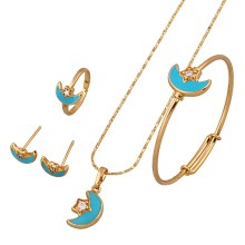 60639 Xuping best selling Fashion lovely Copper Alloy children Jewelry Set 18K Gold Plated sets