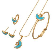 60639 joyas Xuping chapados en oro conjuntos de joyas, con colgante delicado de la moda