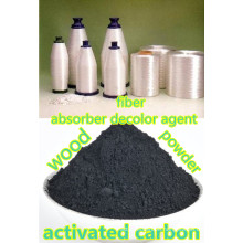 Activated carbon as fiber filter activator