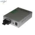 10/100M single mode 4 ethernet ports optic fiber media converter