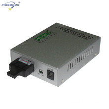 10/100M single mode 4 ethernet ports optic fiber media converter