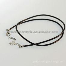 Китай производитель cheap wholesale fashion 2014 черный кожаный ожерелье, necklacer для мужчин