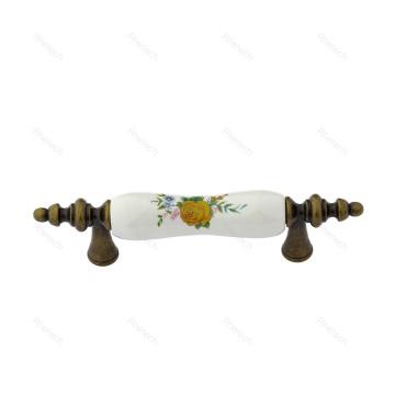Bouton de porte d'armoire en céramique Tiroirs tiroirs Poignées