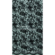Black Curtain Lace Fabric Embroidery Lace Fabric Hem Lace 52'' No.CAC393-BK