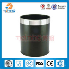 Round stainless steel deluxe room dustbin