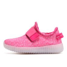 Kind Breathable Bunte gestrickte LED Schuhe