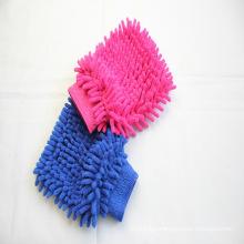 Non scratch soft chenille car wash mitt microfiber glove