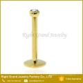 Titro de ouro banhado aço cirúrgico Monroe rosca interna Labret Body Piercing