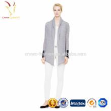 Damen Schalkragen Kaschmir Strickjacke ohne Knöpfe