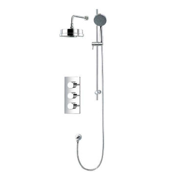 Mezclador de ducha de 3 vías con ducha termostática montada en la pared