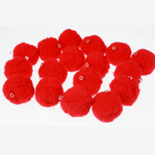 Red Craft Pompom Perlen