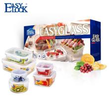 Venda quente recipiente de vidro vazio para alimentos