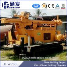 Hfw200L Tipo de oruga Plataforma de perforación para pozo de agua / pozo hidráulico de perforación de pozos