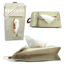 Fashion Cotton and Linen Hanging Receive Tissue Box (MU1017)