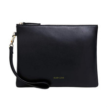 Customised Personalized Leather Clutch Cosmetic Bag