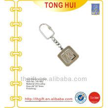 Lettre gravée logo porte-clés en métal Finition en nickel
