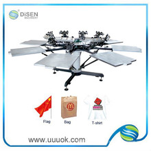 Manual 8 color silk screen printing equipment