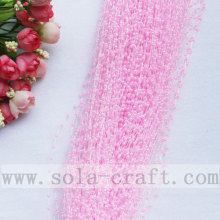 High Quality Pink Color Artificial Pearl String Beaded Garland