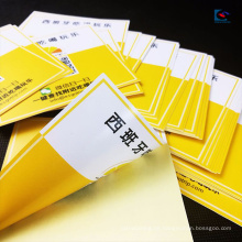 Selbstklebende PVC-Doppelseiten Farbdruck Rückseite gedruckt werben Label