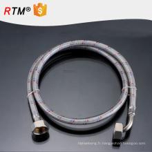 B17 en acier inoxydable flexible tressé tuyau flexible ligne téflon ptfe tuyau de toilette