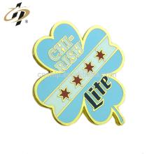 Werbegeschenk benutzerdefinierte Metall Gold hart Emaille Blatt Revers Pins