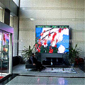 Écran de rideau vidéo mené d'intérieur pour la location d'étape