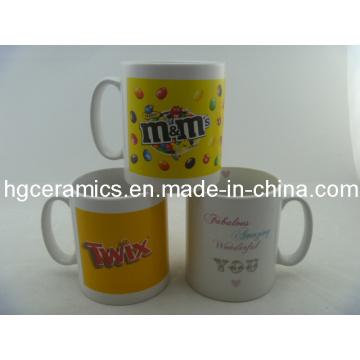 10oz taza impresa etiqueta, taza de 10oz Durham taza de cerámica promocional