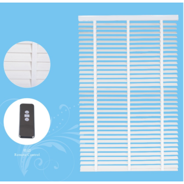 Motorized Faux Wood Venetian Blinds
