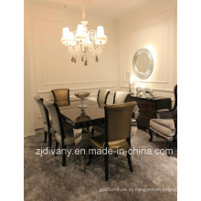 Pós-moderno estilo móveis de madeira Divany mesa de jantar (LS-208 & LS-304)