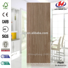 JHK-F01 Flat EV-Black Walnut HDF Veneer Door Skin With High Quality Popular In Jordan