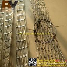 Clasifique una malla de cable flexible Inox para la seguridad de la escalera