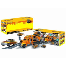 Die-Cast Parking Lot Set Toy F/W Drag Head Car/with Light/Music/Use 3*AA Crazy Engineering