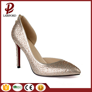 self covered heel diamond sequins fashion shoes
