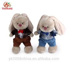 Cuddly clothing christmas rabbit doll soft plush stuffed toys