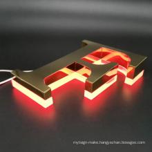 Advertising Stainless Steel Custom Design Led Lighting Backlit Letters Sign