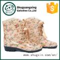 дамы плоские ботинки дождя резиновые сапоги