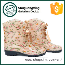 dames chaussures plates bottes de gomme de pluie