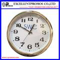 Custom Logo impresión de plástico redondo reloj de pared (item23)
