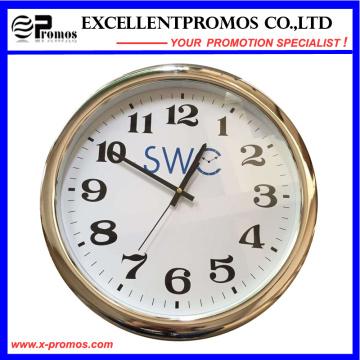 Custom Logo impressão rodada relógio de parede de plástico (item23)