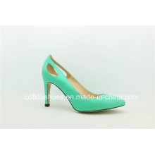 Fashion Stiletto High Heel Leather Lady Dress Shoes