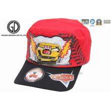 100% coton Twill coloré Cool Enfants Army Military Hats & Cap