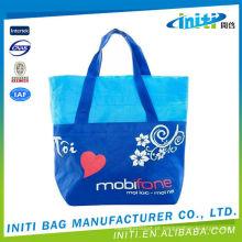 Sacos promocionais recicláveis menina algodão shopping