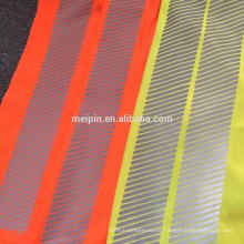 Chaleco / camiseta de la reflexión de la seguridad de la alta visibilidad con el ajuste segmentado reflexivo del vinilo de la transferencia de calor