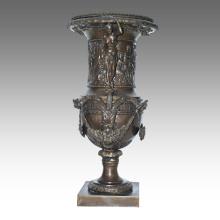 Vase Statue Göttin Blumentopf Dekoration Bronze Skulptur TPE-1039