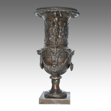 Florero Estatua Diosa Maceta Decoración Bronce Escultura TPE-1039