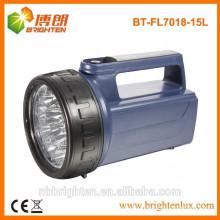 Lampe à LED portative en plastique résistante à la batterie à 4XD à batterie, lampe à incendie d'urgence, éclairage lourd