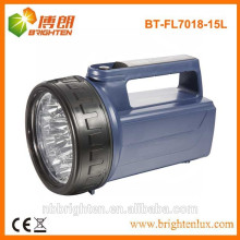 Heavy duty 4XD battery operated 15LED plastic portable led lantern, emergency torch light, heavy duty light