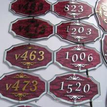 Signage do número da sala da placa da porta do Signage do hotel