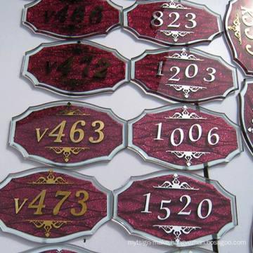 Hotel Signage Door Plate Room Number Signage