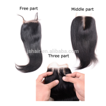 straight lace 4X4 can be dyed wholesale virgin hair bundles with lace closure